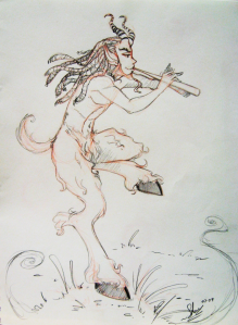 Satyrical Satyr by Mizzcoffeebot at DeviantArt
