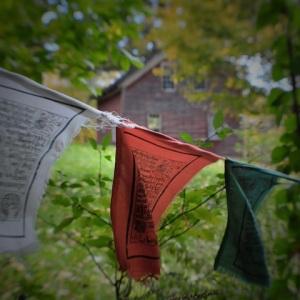 prayer flags at Spirit Fire by Steve Kramer