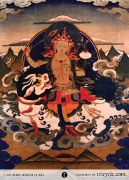 Manjushri on a Lion Throne